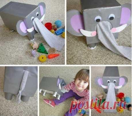 Слоник помогает малышам развивать сенсорные ощущения