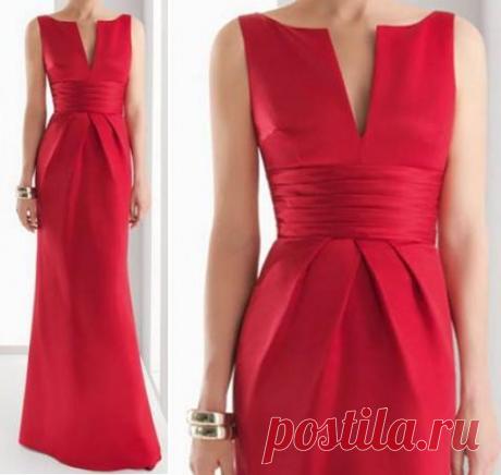Элегантное платье.Выкройки 36-56.