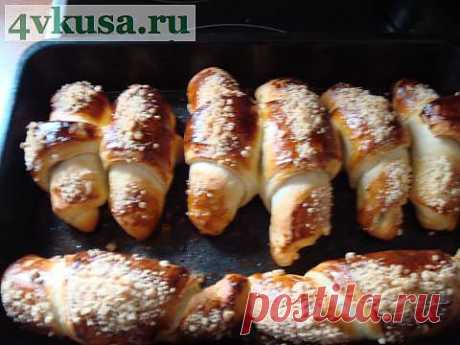 Рогалики с изюмом | 4vkusa.ru