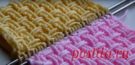 Текстурный узор с перетяжками (Вязание спицами) – Журнал Вдохновение Рукодельницы