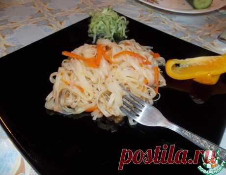 Рисовая лапша, обжаренная с овощами – кулинарный рецепт