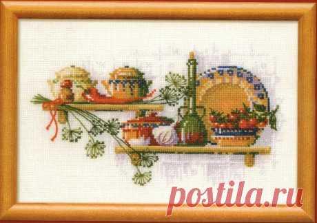 Вышивка для кухни крестом в схемах с описанием