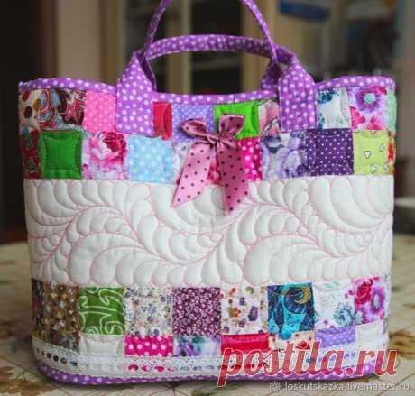 Шьем сумку-корзинку для девочки «Розовый сон» – Ярмарка Мастеров