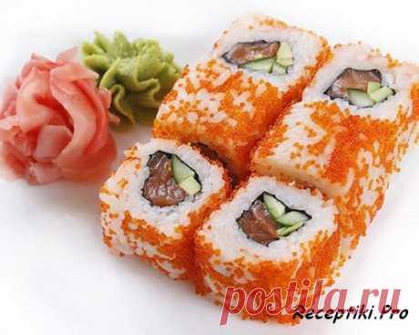 Японская кухня - Роллы Калифорния - быстро, вкусно и просто