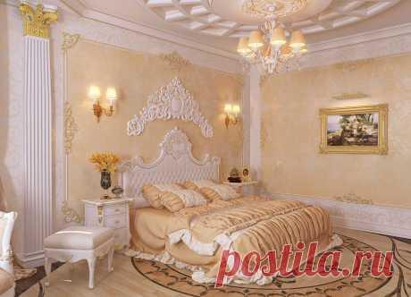 Спальня в стиле барокко дизайн