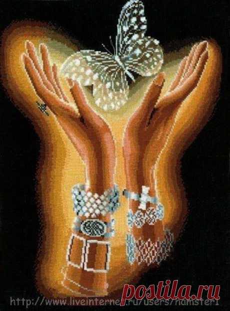 Бабочка в руках Бабочка в рукахБабочка в руках как символ красоты, которая может родиться из любой гусенички.