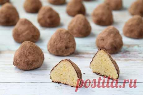 """Сказочно вкусное печенье """"Трюфель"""" - рассыпчатое песочное печенье, в обсыпке из какао."""
