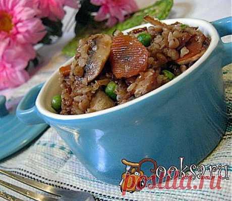 Гречка с грибами и овощами рецепт с фото