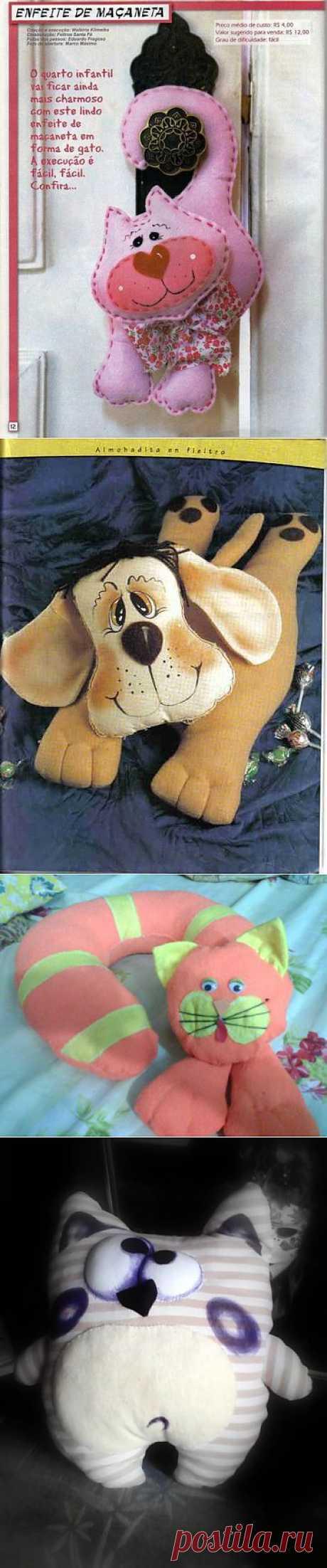(+1) тема - Игрушки-подушки для любителей кошек и собак | СДЕЛАЙ САМ!