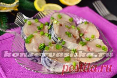 How to salt a house mackerel tasty in a brine, very tasty recipe