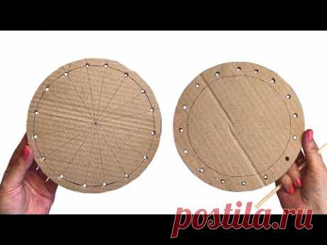 DIY Recycled Wicker Basket | Paper crafts | From cardboard and newspapers