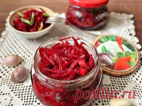 Салат из свеклы с чесноком на зиму — рецепт с фото пошагово. Как приготовить свекольный салат на зиму с чесноком?