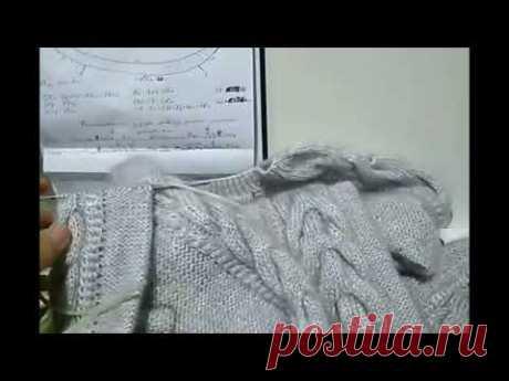 Заканчиваем тело и рукава свитерка резинкой 1х1.