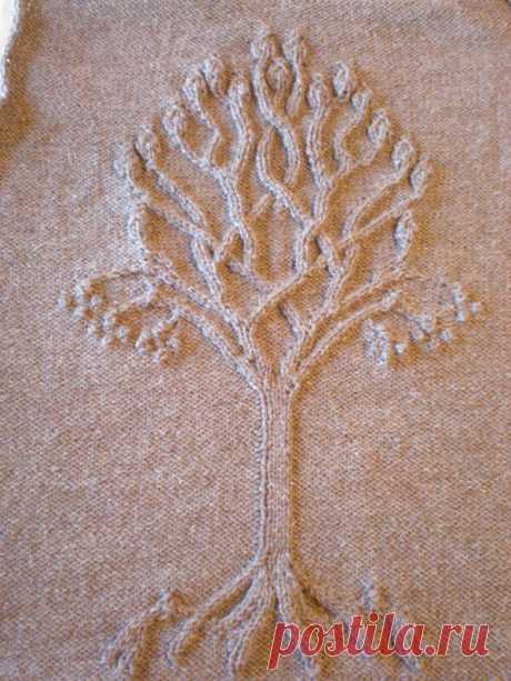 Дерево жизни - отдельный орнамент спицами