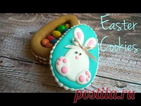 Easter Cookies. Пасхальное печенье. Шкатулка из имбирного печенья.