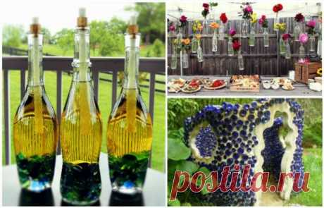 12 красивых и полезных вещей из стеклянных бутылок, которыми можно украсить свой дом и дачу . Милая Я