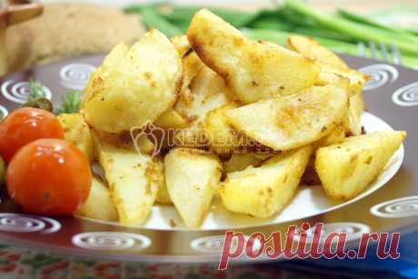 Картофель дольками в духовке(блюдо в пост)