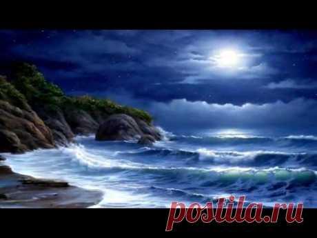 """Лунная соната"" Бетховена и  шум моря - Beethoven ""Moonlight Sonata"" and ocean"