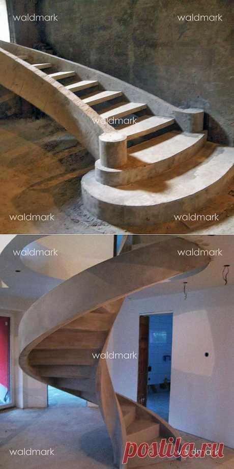 Бетонные лестницы - экслюзивная прочность.
