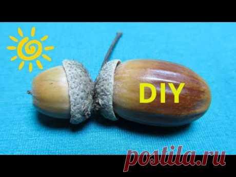 Качественная поделка из желудей как сувенир! Легко сделать! Отличная идея! Мастер - класс! DIY