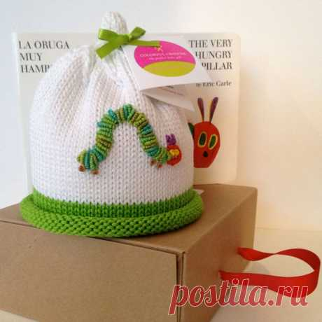 Colorful Crowns Green Hungry Caterpillar Knitted Newborn Baby   Etsy
