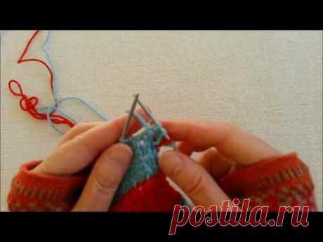 Вязание спицами. Многоцветное вязание