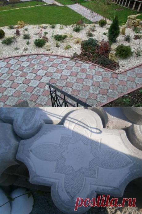Отливаем тротуарную плитку своими руками / тротуарная плитка / 7dach.ru