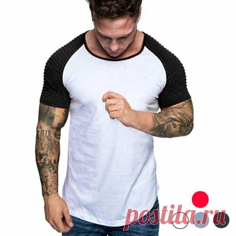 Men's crewneck t-shirt breathable slim fitness short sleeve summer tees hiking camping travel holiday Sale - Banggood.com