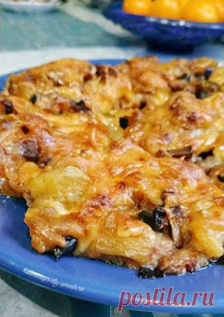 Кулинарная Академия Умных Хозяек: Свинина запечённая с баклажанами и грибами