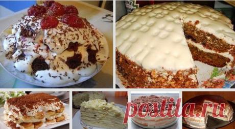 Самые ходовые рецепты быстрых и вкусных домашних тортов.