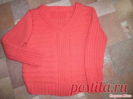 """Пуловер """"Оранжевый"""" или удар по осенней депрессии - Вязание - Страна Мам"""