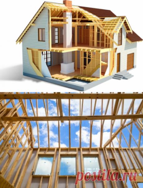 Сборный деревянный каркасный дом | Stroika12.com