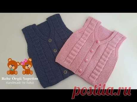 Kolay Bebek Yelek Yapımı #kızbebekyelek #erkekbebekyelek #knitting #biryumaklabiryaşyelek