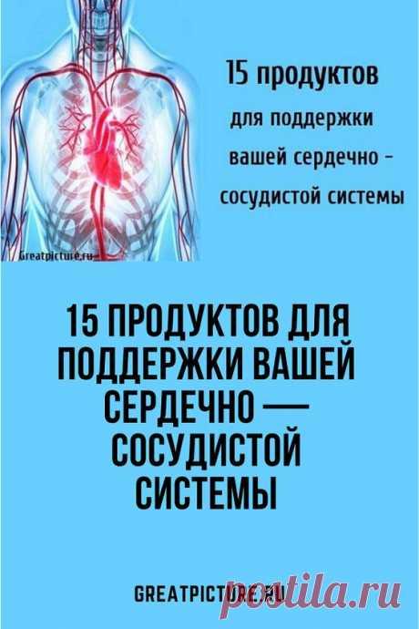 15 продуктов для поддержки вашей сердечно — сосудистой системы.Система кровообращения вашего организма является одним из важнейших компонентов. Она включает в себя сердце, легкие и кровеносные сосуды и неразрывно связана со всеми важными аспектами здоровья вашего организма. Улучшение того, что вы едите для поддержания кровообращения, улучшит здоровье вашего организма в целом.