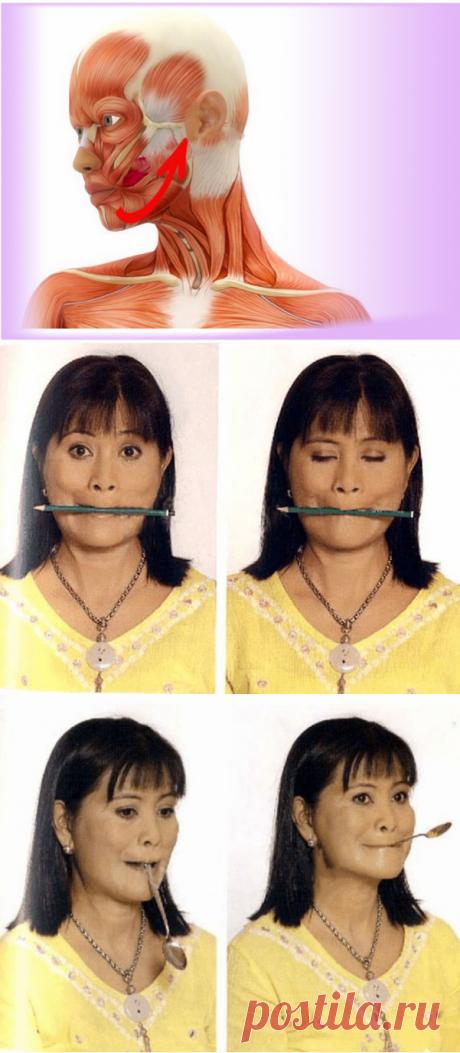 Укрепляем лицо и стираем морщины: 2 супер упражнения.