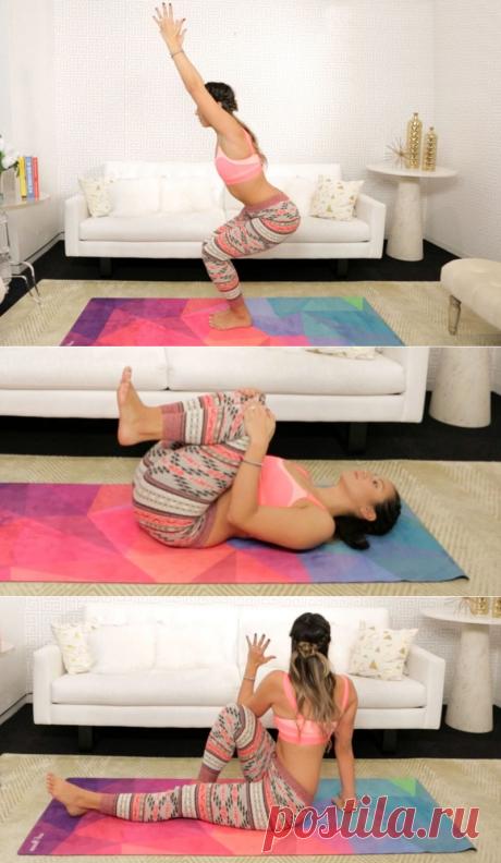 6 упражнений для хорошего пищеварения, которые мгновенно подтягивают живот