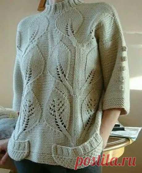 Узор спицами для шикарного пуловера также бесподобно будет смотреться на палантине, шали или пледе.