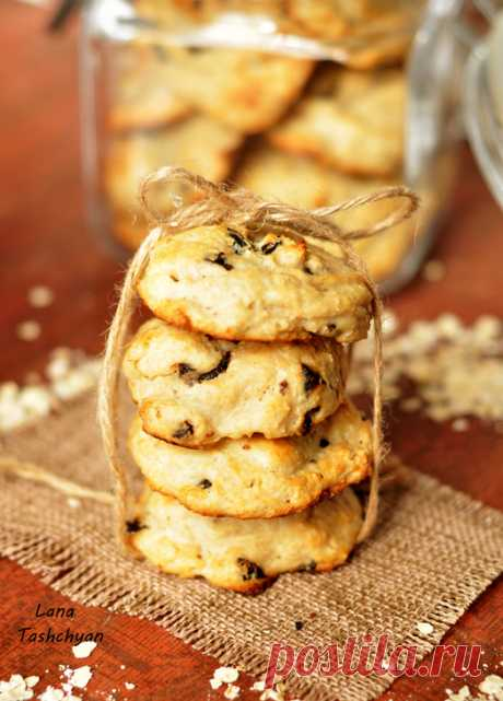 Диетическое печенье с творогом! (Без муки, масла и сахара).