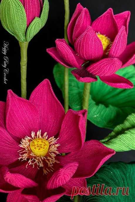 Lotus Flower pattern by Happy Patty Crochet