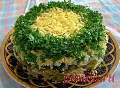 Грибы под шубой салат рецепт
