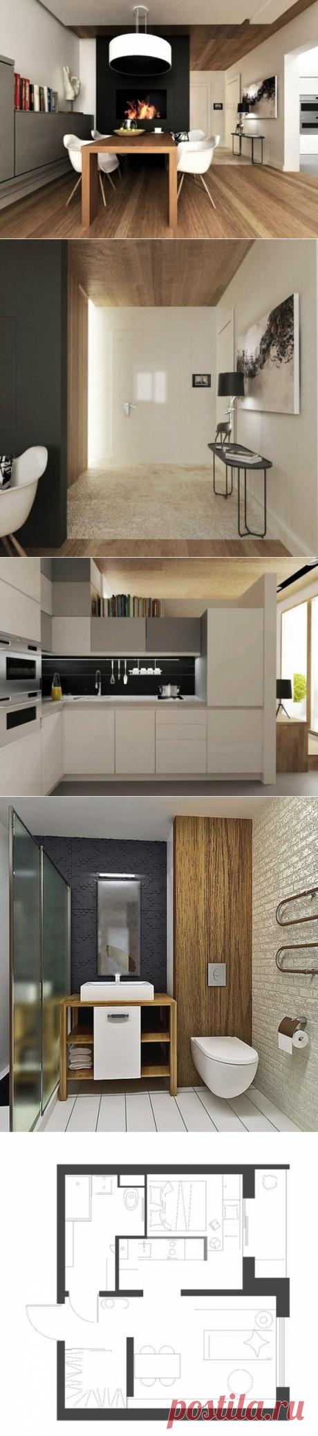 Компактная и уютная однокомнатная квартира - Дизайн интерьеров   Идеи вашего дома   Lodgers