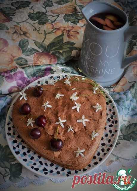 Шарлотка с вишнями – кулинарный рецепт