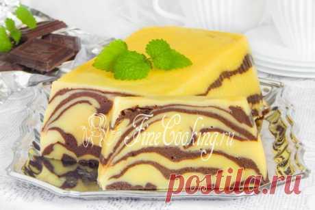 Шоколадно-творожная запеканка Мраморная - рецепт с фото