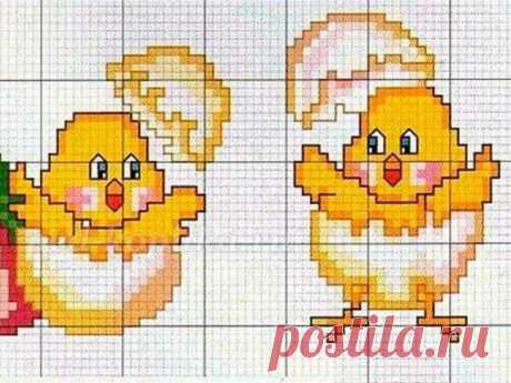 Схемы вышивки крестом: Пасхальные цыплята ~ Свое рукоделие Подборка схем вышивки крестом Пасхальные цыплята. Пасхальная вышивка с цыплятами доставит удовольствие и детям, и взрослым. Здесь можно