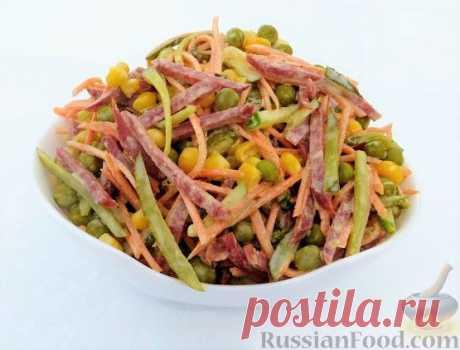 Салат с колбасой - упрощённо, но не всегда просто