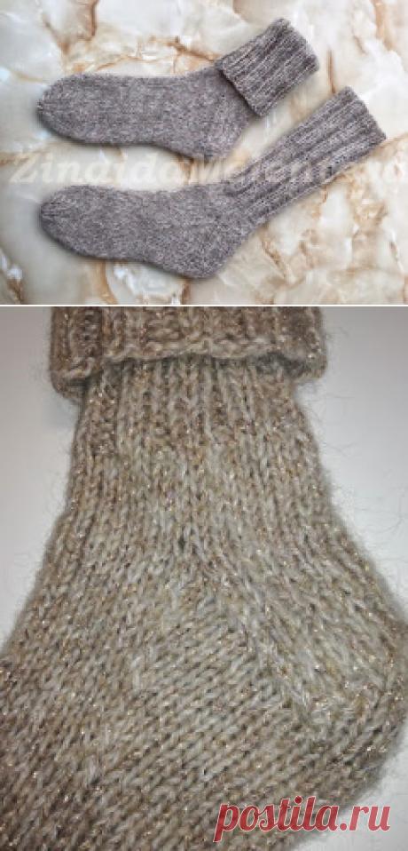 Вяжем вместе: Женские носки с косой пяткой