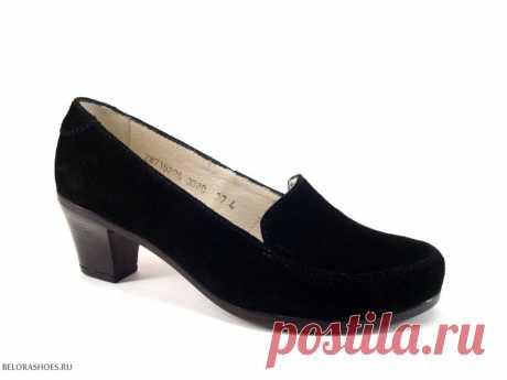 Туфли женские Росвест 3080, велюр Стильные женские туфли из натуральной кожи фабрики Росвест