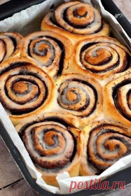 Как приготовить булочки с корицей и сливочным кремом. - рецепт, ингредиенты и фотографии