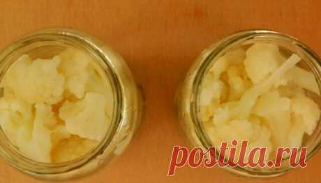 Хрустящая маринованная цветная капуста: пошаговый рецепт приготовления заготовки на зиму