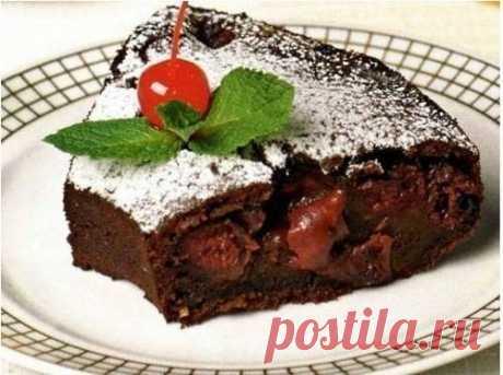 Вишневый пирог в мультиварке – рецепт с фото / Простые рецепты